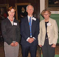 The 2012 UFAW Medal winners: Professor Christine Nicol (left) and Professor Marian Stamp Dawkins (right) with UFAW's Chief Executive Dr James Kirkwood at the award presentation in York.