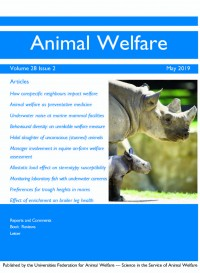 Animal Welfare vol 25 issue 4